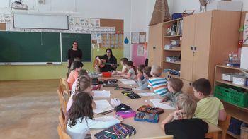 Obisk francoske študentke na OŠ Antona Bezenška Frankolovo