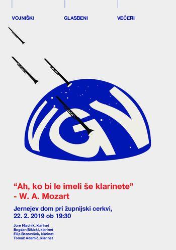 """Vojniški glasbeni večeri: """"Ah, ko bi le imeli še klarinete""""- W. A. Mozart"""