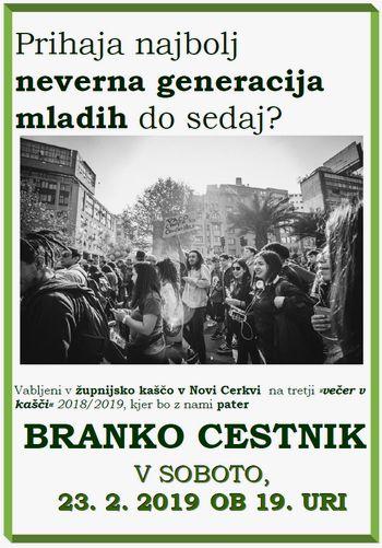 3. večer v kašči 2018/2019, gost p. Branko Cestnik