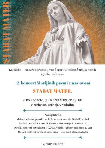 Povabilo: 2. koncert Stabat mater