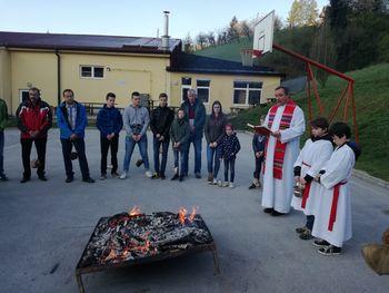 Vojnik, Frankolovo: Blagoslov ognja na velikonočno soboto