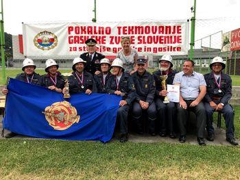Pokalno veteransko tekmovanje starejših gasilcev in gasilk