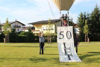 Fotogalerija: Dvig balona ob praznovanju Antona Pergerja