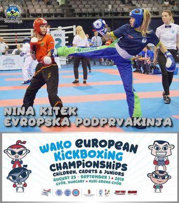 Nina Kitek – evropska podprvakinja v kikboksingu