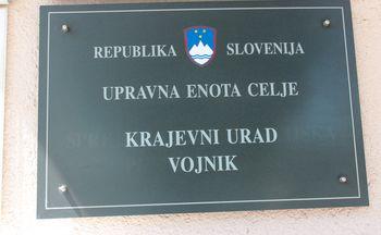 Obvestilo o zaprtju Krajevnega urada Vojnik in Dobrna