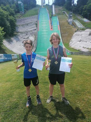 Poletni utrinki mladih skakalcev