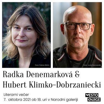 Vabilo na literarni dogodek s češko pisateljico Radko Denemarkovo