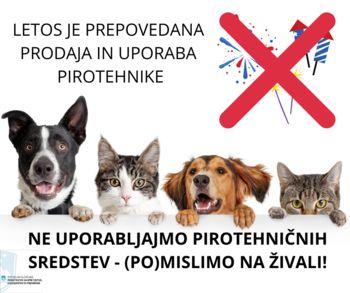 (Po)mislimo na živali – ne uporabljajmo pirotehničnih sredstev
