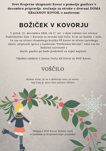 Dogodki  veselega decembra v Kovorju decembru