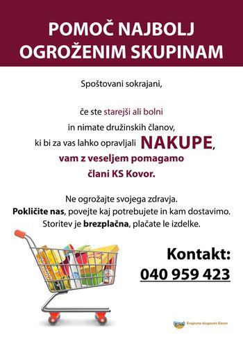 Pomoč pri nakupih za starejše