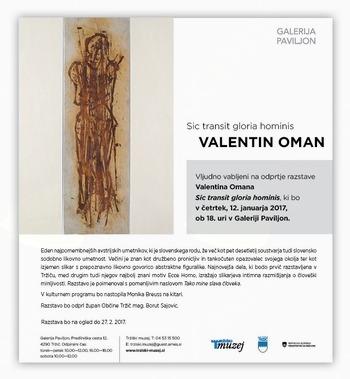Vabljeni na odprtje razstave Valentina Omana