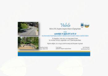 Odprtje nove ceste v Kovorju