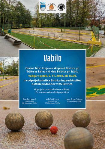 30. letnico BK Bistrica zaznamuje tudi obnovljeno balinišče