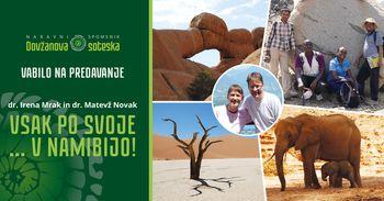 Vsak po svoje... v Namibijo - vabilo na predavanje v RIS Dolina
