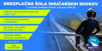 Brezplačna skakalna šola  Skakalnem centru Sebenje