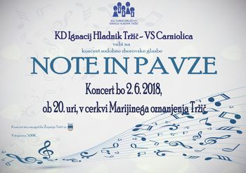 NOTE IN PAVZE