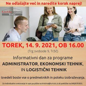 Informativni dan za vpis v srednješolsko izobraževanje
