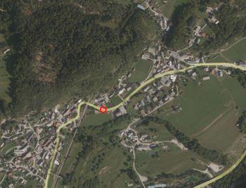 Delna zapora ceste med Spodnjo in Zgornjo vasjo na Bohinjski Beli