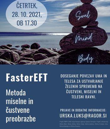 Spletna delavnica: FasterEFT - Metoda miselne in čustvene preobrazbe
