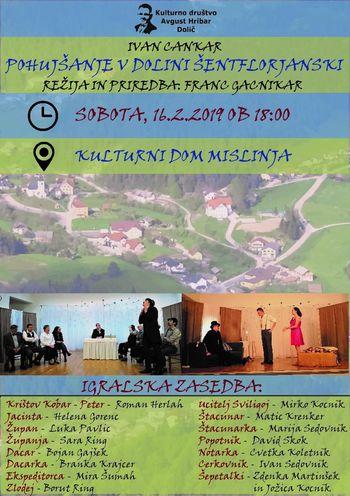 "Gledališka predstava ""Pohujšanje v dolini Šentflorjanski"""