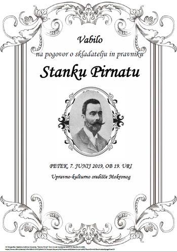 Pogovor o skladatelju in pravniku Stanku Pirnatu