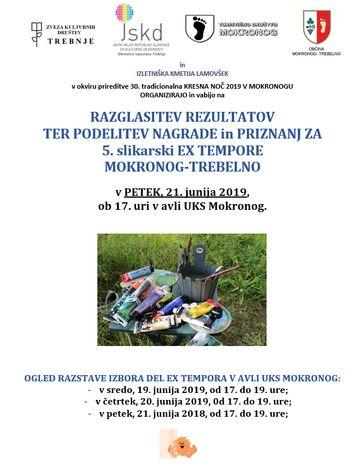 Razstava likovnih del ex tempora Mokronog-Trebelno