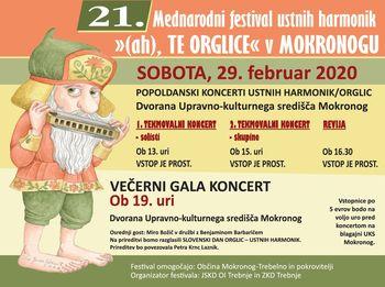 """21. mednarodni festival ustnih harmonik """"(ah), TE ORGLICE"""""""