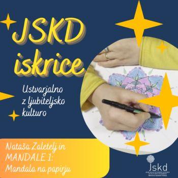 JSKD iskrice tokrat vabijo k risanju mandal