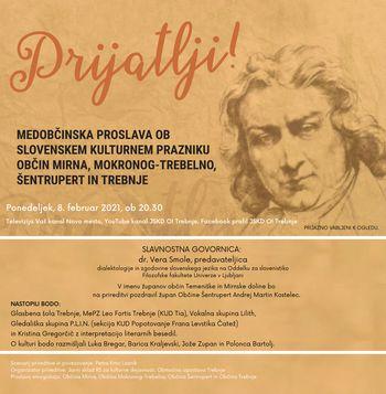 Prijatlji! Medobčinska proslava ob slovenskem kulturnem prazniku