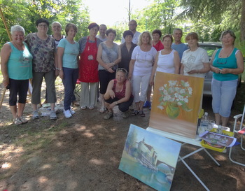 Dolgo vroče poletje tudi za slikarje