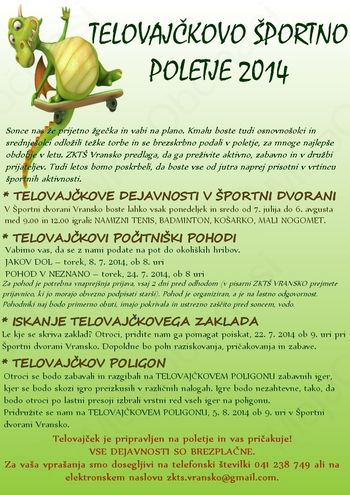 TELOVAJČKOVO ŠPORTNO POLETJE 2014
