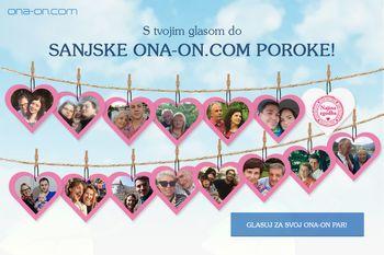 """Iščemo par, ki bo naslednje leto dahnil """"da"""" na že četrti Sanjski ona-on.com poroki!"""