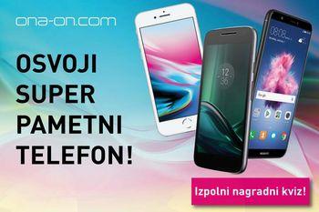 BI SUPER PAMETNI TELEFON? SODELUJ V MOBILNEM NAGRADNEM KVIZU ONA-ON.COM!