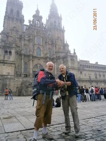 Buen Camino peregrino ali 900 km peš pri sedemdesetih