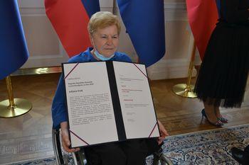 Predsednik republike priredil sprejem ob podelitvi državne nagrade in priznanj na področju prostovoljstva za leto 2019