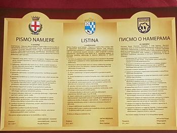 Podpis listine o sodelovanju občine Preddvor z občinama Vodnjan in Blace