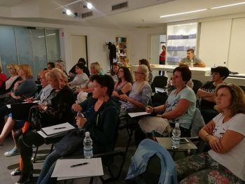 Frizerska sekcija OOZ Radovljica in Škofja Loka skupaj na seminarju v Ljubljani