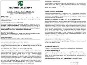 Obvestila za gospodinjstva - KORONAVIRUS