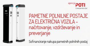 Za sofinanciranje nakupa pametnih polnilnih postaj predvideno kar 2.000.000,00 € nepovratnih sredstev