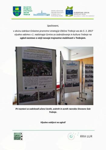 VABILO - razstava o viziji razvoja trajnostne mobilnosti v Trebnjem