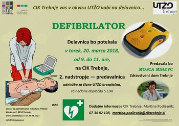 Delavnica UTŽO: Defibrilator