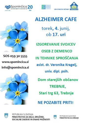 ALZHEIMER CAFE - IZGOREVANJE SVOJCEV OSEB Z DEMENCO IN TEHNIKE SPROŠČANJA