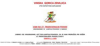 17. tradicionalni pohod VTD Čatež pod Zaplazom - predhodne prijave