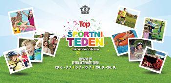 TOP ŠPORTNI TEDEN za osnovnošolce