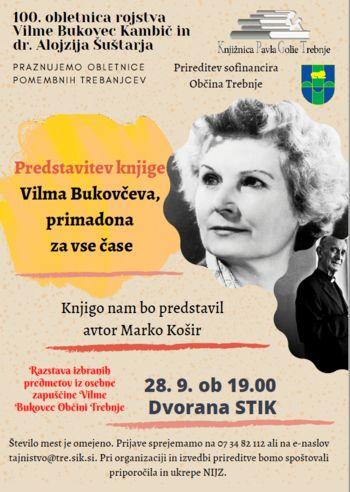 Predstavitev knjige o Vilmi Bukovec
