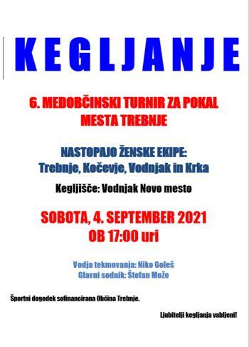 6. Medobčinski kegljaški turnir za pokal mesta Trebnje