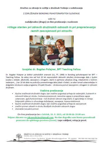 Vloga staršev pri zdravih družinskih odnosih in pri preprečevanju raznih zasvojenosti pri otrocih