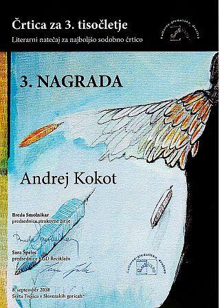3. nagrada Andreju Kokotu