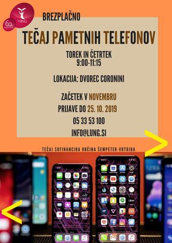 Tečaj UPORABE PAMETNIH TELEFONOV