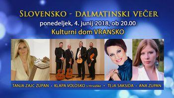 SLOVENSKO-DALMATINSKI VEČER